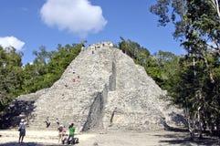 Small pyramid of Coba stock photos