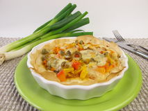 Small quiche with vegetables Stock Photo