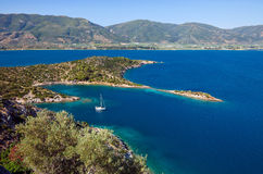 Small quiet bay. On Poros island, Greece Stock Photography