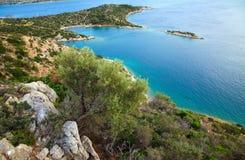 Small quiet bay. On Poros island, Greece Stock Photos