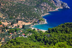 Small quiet bay on greek island. Poros Royalty Free Stock Photography
