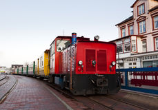 Small railway at Borkum central station Stock Images