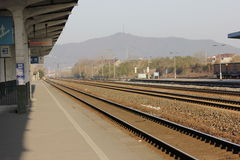 The small railway station Royalty Free Stock Photography