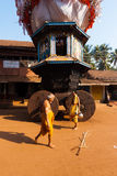 Small Ratha Chariot Brahmin Walking Royalty Free Stock Photos