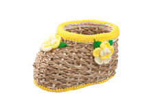 Small rattan basket Stock Image