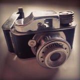 Small real camera. Real camera. Small. Metal. Iron. Black. Toyoca Royalty Free Stock Photography