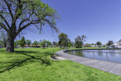 Small recreation park with jogging track Royalty Free Stock Photography