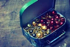 Small red ball in a box Royalty Free Stock Images
