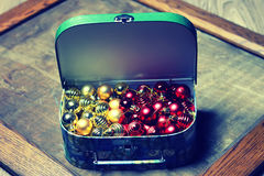 Small red ball in a box Royalty Free Stock Photography