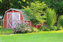 Small red barn Royalty Free Stock Photo
