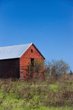 Small red barn. Stock Images