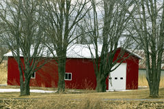Small Red Barn Royalty Free Stock Photography