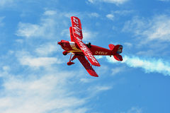 Small red biplane Royalty Free Stock Photos