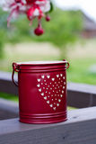 Small red bucket Stock Image