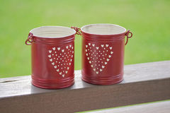 Small red bucket Royalty Free Stock Images