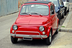 Small red car. Small red stylish italian car Stock Image