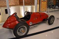Sorocaba, Brazil thirty august two thousand and fourteen. Small. Small red car in the exhibition stock image