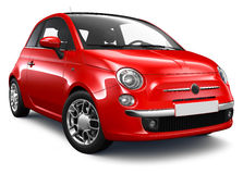 Small red car. On a white background Stock Images