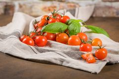Small red cherry tomatoes Royalty Free Stock Photos