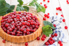 Small Red Currant Cupcake Stock Photos