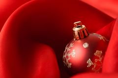 Small red decoration balls Stock Photos
