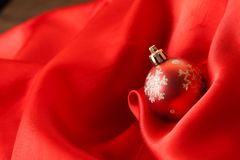 Small red decoration balls Royalty Free Stock Images