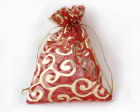 Small red decorative bag Royalty Free Stock Photography