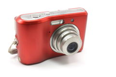 Small, red, digital camra Stock Photo