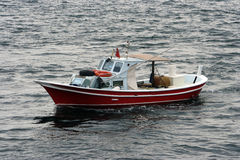 Small red fishing boat Royalty Free Stock Photo