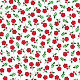 Small  red flowers seamless pattern Stock Images