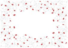 Small red flowers. Vector Royalty Free Stock Photography