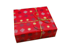 Small red gift box on white background. Royalty Free Stock Photography