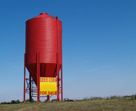 Small Red Grain Silo stock images