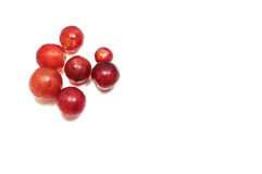 Small Red Grape White Background. Small Red Grape On White Background Stock Images
