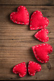 Small red hearts Stock Image