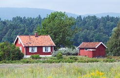 Small, red house Stock Photography
