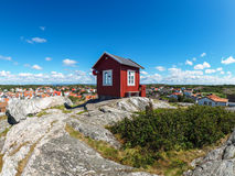 Small red hut in Vrango Royalty Free Stock Images
