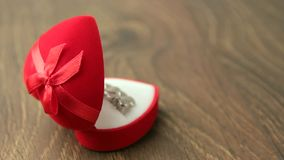 Small red jewellery box stock footage