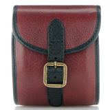 Small red leather bag Stock Images