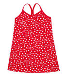 Small red polka dot dress Royalty Free Stock Images