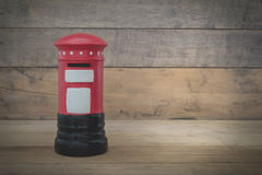 Small red post box Stock Photography