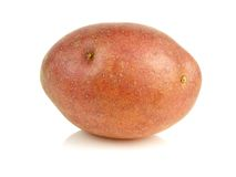 Small red potato isolated on white Stock Images