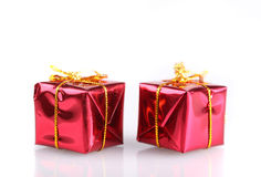 Small red present boxes Royalty Free Stock Photography