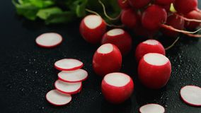 Small red radish in slices Royalty Free Stock Photos