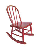 Small red rocking chair Royalty Free Stock Photo