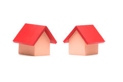 Small red roofed model house Royalty Free Stock Photography