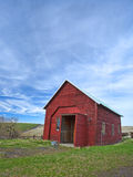 Small red shed. Stock Photos