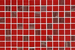 Small red square ceramic Tiles Royalty Free Stock Photography