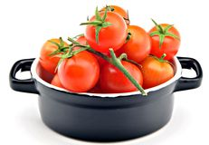 Small red tomatoes Royalty Free Stock Photos