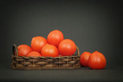 Small red tomatoes Royalty Free Stock Image